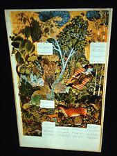 Islamic 16thc Illuminated Manuscript: Shahnama- Rustam Sleeping- 35mm Slide