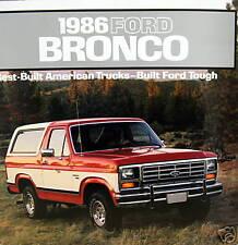 1986 Ford Bronco SUV new vehicle brochure