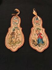 Antique Petit Point and Needlepoint Tapestry Door Knob Signs