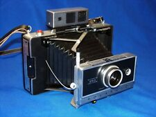 Vtg Polaroid 250 Land Camera w/ Zeiss Viewfinder Manual Case Self Timer Flash ++