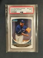 2013 Bowman Chrome Prospect ANTHONY ALFORD Blue Jays Rookie Card #208 PSA 9 POP1