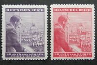 Germany Nazi 1943 Stamps MNH Adolf Hitler 54th birthday B&M WWII Third Reich Ger