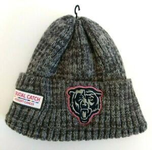 Chicago Bears Crucial Catch Intercept Cancer Sock Beanie Hat by New Era OSFM