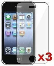 3 PACK NEW CLEAR SCREEN PROTECTOR FILM FOR APPLE IPHONE 3G 3GS