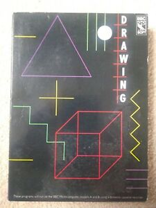 DRAWING - LEARN TO USE GRAPHICS OF BBC B MICRO 1982 BBC SOFT CASSETTE TAPE BOXED