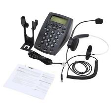 HT500 Office Desk Telephone With Corded Headset Call Center Phone Dial Pad M3L3