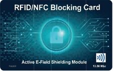 Active RFiD/NFC Signal Blocking card.Credit & Debit Card Blocker Protector