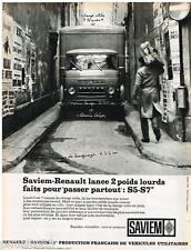 PUBLICITE ADVERTISING 0105  1964  SAVIEM-RENAULT   poids lourds S5 S7