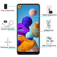 For Samsung Galaxy A21 Premium Shockproof Screen Protector Tempered Glass Guard