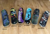 "SKATEBOARD RETRO URBAN DECK CRUISER SKATER SKATING WOODEN BOARD 31"" ABEC9"