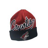 Arizona Coyotes NHL Reebok Youth Boys (8-20) Cuffed Winter Beanie Hat Cap New