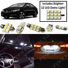 Premium White LED interior lights package kit for 2013-2015 Honda Civic HC8W