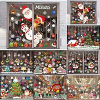 Weihnachten Aufkleber Weihnachtsmann Wandsticker Fenster Schaufenster Xmas Deko
