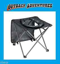OZTRAIL FOLDING TOILET CHAIR PORTABLE CAMPING SEAT COMPACT HIKING BLACK