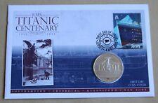 """Titanic Centenary 2012 Cubierta + 2012 Islas Cook 'Titanic Memorial """"moneda de $1"""