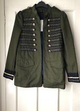 Zara Khaki Green Military Style Jacket Coat Size XS Ref. 6232/240