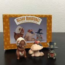 "Hallmark Merry Miniatures ""Giving Thanks"" 1996 Original Boxes"