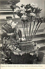 London Life. Flower Seller at Piccadilly Circus # 4 by Gordon Smith.