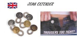 Unisex Jeans Pants Instant Fix Jeans Expanders Waist Extender Metal Button