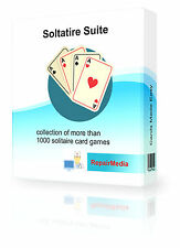 Solitaire Suite Ultimate Card Playing Software Collection 1000+ Games PC DVD