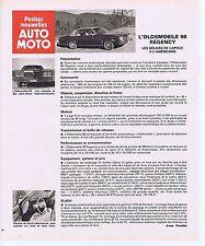 PUBLICITE ADVERTISING 045 1977 L'OLDSMOBILE 98 REGENCY
