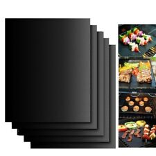 BBQ Silicone Baking Mat Food Cooking Mat Black Reusable Nonstick Sheet Oven Tray