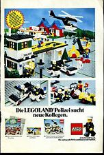 Lego--Legoland Polizei sucht neue Kollegen--Mit Sprechblase--Werbung von 1981--