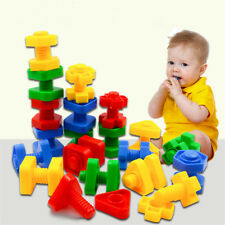 55pcs Jumbo Nuts and Bolts Set Construction toy - Maths Fine Motor Preschool
