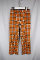 Womens Burberry London Brown Nova Check Flared Pants Trousers L size