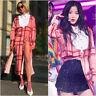 Zara Pink Checked Long Sleeve Beach Slit Midi Dress M L UK 10 12 US 6 8 Blogger❤