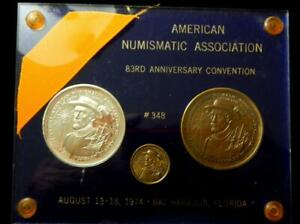 ANA 1974 Medal Set #348 Bal Harbour Florida -Silver and Bronze