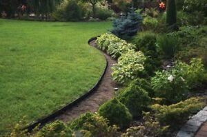 Flexible Garden Lawn Grass Edge Plastic Garden Border Wall Pegs  EDGES 5 m PEGS