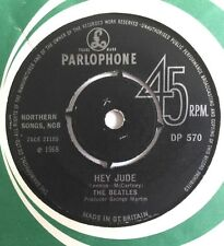 "THE BEATLES -Hey Jude- Rare UK 3 Parlophone Export 7"" WITH KT embossed centre"