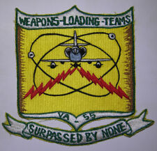 60s US Navy Attack Squadron VA-55 Japanese Made Patch - Surpassed By None
