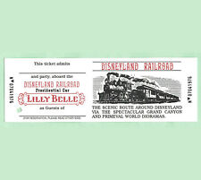 Disneyland Railroad Train Ticket Lilly Belle Caboose VIP circa 1980s