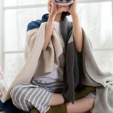 Bed Throw Blanket Knitted Cotton Travel Sofa Home Office Warm Covers Blanket