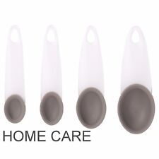 SABICHI PLASTIC HANDLES SILICONE HEADS SPOONS COOKING MEASURING TOOL 4 SIZES