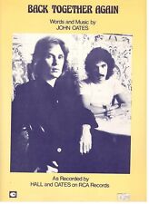 "HALL & OATES ""BACK TOGETHER AGAIN"" SHEET MUSIC-1976-RARE-BRAND NEW ON SALE-MINT!"