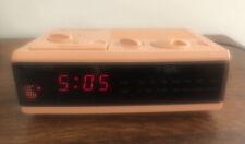 Sony Dream Machine FM/AM Digital Alarm Clock Radio (Model ICF-C3W) Retro Peach