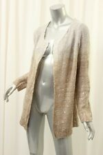 NY COLLECTION Beige Godiva Ombre Knitted Sequin Jacket PL