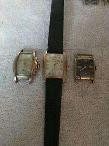 Vintage Elgin Bulova Benrus Mechanical Automatic Wind Wristwatch Lot