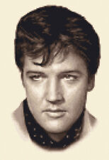 ELVIS PRESLEY - Full counted cross stitch kit + all materials needed