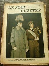 Le Soir Illustré - Le Roi de Gustave V de Suède à Bruxelles - 6/2/1937