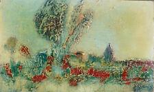 L.D. BJÖRN (1907-1989) HsP 70' Nle Ecole de Paris Jeune Peinture Expressionnisme