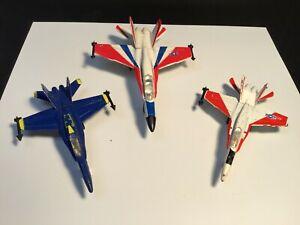 VTG Zylmex Lot of 3 Planes F-18 Hornet #A204/F-18 Blue Angels Hornet/F-18 #A124