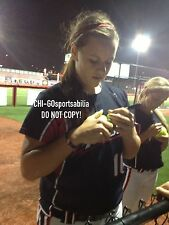 Rare Oklahoma Sooners Keilani Ricketts Signed Softball Pitching Rubber Photo