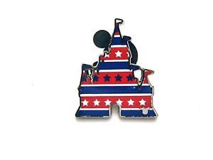 Disney Pin 2020 Hidden Mickey Castle Fill - Patriotic American 4th July [142318]