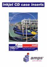 25 Amps CD Jewel case inserts 160 gsm Matte A4 Paper fits 10.4 mm spine case