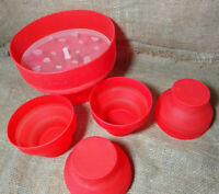 Lekue Popcorn Popper Maker Microwave Silicone Bowl Set