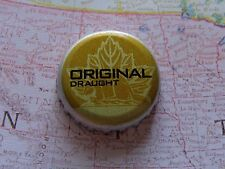 BEER Bottle Crown Cap ~ Sleeman Brewing Original Draught ~ CANADA ~ Beaver, Leaf